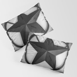Texas - Black And White Pillow Sham