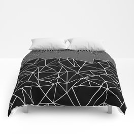Ab Lines 45 Black Comforters