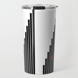 STRIPED SYMPHONY - Black and White #minimal #art #design #kirovair #buyart #decor #home Travel Mug