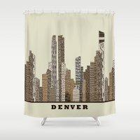 denver Shower Curtains featuring Denver by bri.buckley