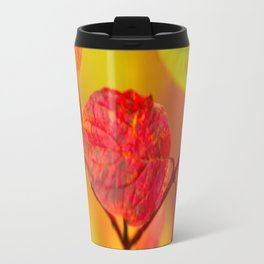Red autumn leaves #decor #society6 Travel Mug