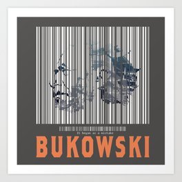 Bukowski (Barcode)- It Began as a Mistake Art Print