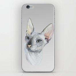 Cat Portrait #3 - Sphynx (2016) iPhone Skin