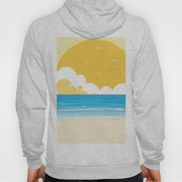 Here Comes the Sun Kitschy Golden Sunrise  Hoody