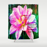 love quotes Shower Curtains featuring Quotes-Rumi by haroulita
