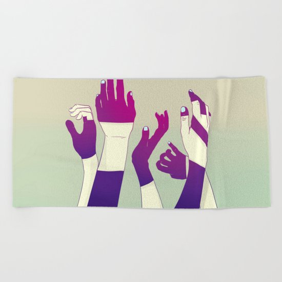 Crowd Beach Towel