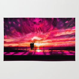 Sunset darkness Rug