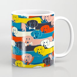 COLORED DOGS PATTERN 2 Coffee Mug