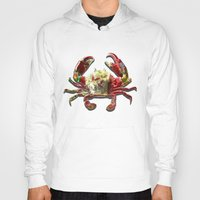 crab Hoodies featuring Lucky Crab by JonezuArt