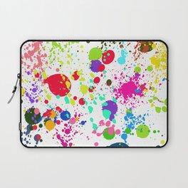 Paint Splatters on White Background Laptop Sleeve