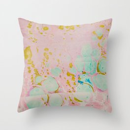 Ginger Root Hand Marbleized Throw Pillow