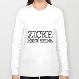 zicke aber sense boyfriend Long Sleeve T-shirt