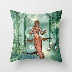 Wonderful mermaid Throw Pillow