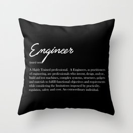 Engineer Definition Throw Pillow