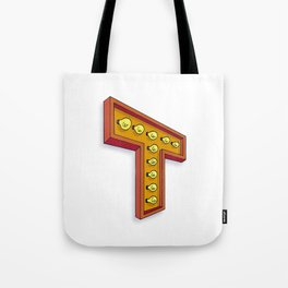 The T Letter Tote Bag