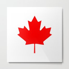 Canadian Maple Leaf From Flag Metal Print