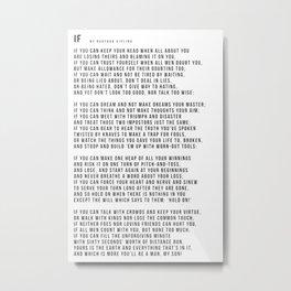 IF #minimalism Metal Print