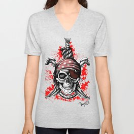 *** Ltd Edition: skull t-shirt Unisex V-Neck