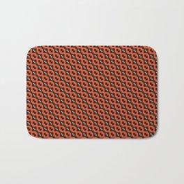 Orange black  pattern Bath Mat
