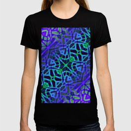 Fractal Art Stained Glass G318 T-shirt