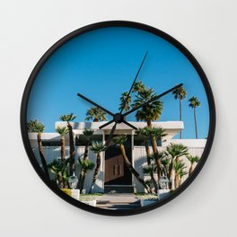 Palm Springs Architecture Wall Clock