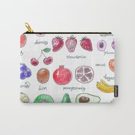 Watercolor painting of various fruts Carry-All Pouch