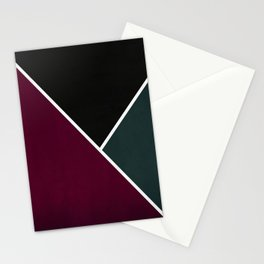 Noir Series - Red & Forest Stationery Cards