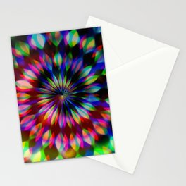 Psychedelic Rainbow Swirl Stationery Cards