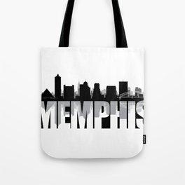 Memphis Silhouette Skyline Tote Bag