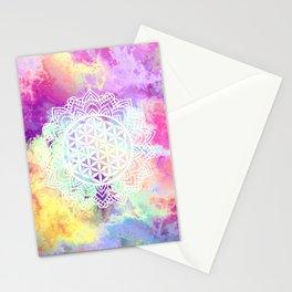 Flower Of Life (Batik 13) Stationery Cards