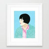 anna Framed Art Prints featuring Anna by kate gabrielle