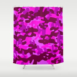 Camouflage (Fuchsia) Shower Curtain