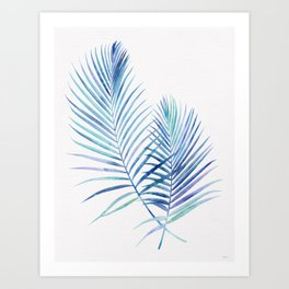 Feathery Palm Leaves Art Print