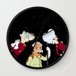 Nimbus Crew: Mom, Prof. Farnsworth and Scruffy Wall Clock