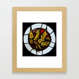 Cockatrice window  Framed Art Print