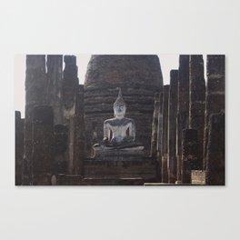 Wat Sa-Si Buddha at Sukhothai Historical Park Canvas Print