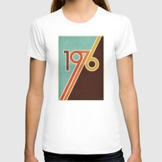 PORTAL Womens Fitted Tee White LARGE