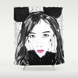 Yuri Kwon from Girls' Generation Shower Curtain