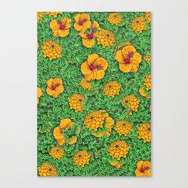Yellow garden Canvas Print