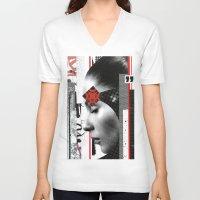 data V-neck T-shirts featuring Data Feeds by Joel Lambeth