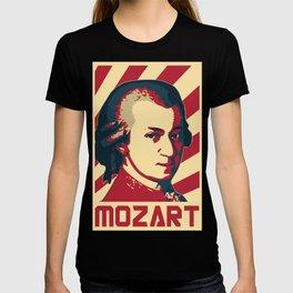 Wolfgang Amadeus Mozart Retro Propaganda T-shirt