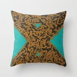 16 x 20 yellow-teal shape Throw Pillow