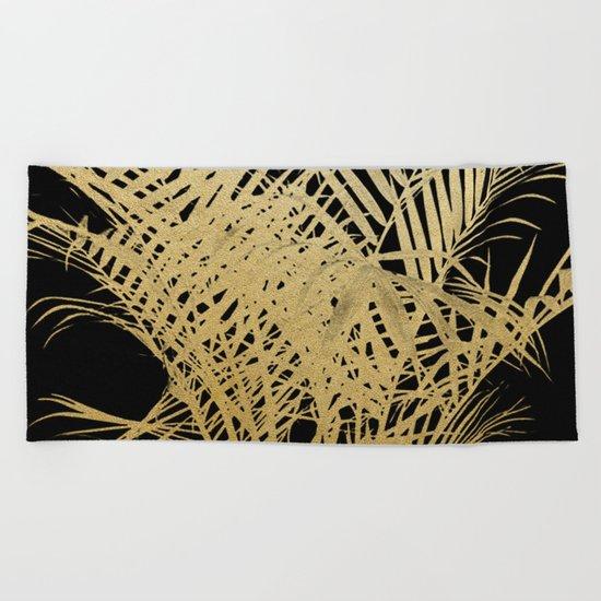 Golden Palms Beach Towel