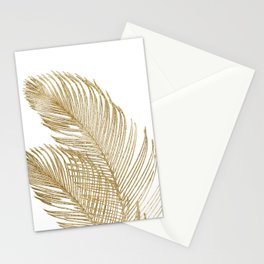 Palm Leaves Finesse Line Art with Gold Foil #2 #minimal #decor #art #society6 Stationery Cards