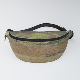 13,000px,500dpi-Camille Pissarro - Ploughed Land - Digital Remastered Edition Fanny Pack