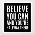 BELIEVE YOU CAN AND YOU'RE HALFWAY THERE (Black & White) by creativeangel
