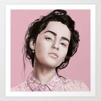 khaleesi Art Prints featuring Emilia  by Gatto Viola Designs by Alessandra Ragusa