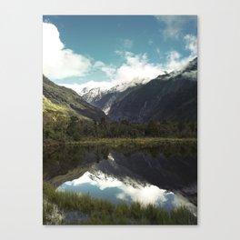 (Franz Josef Glacier) Where the snow melts Canvas Print