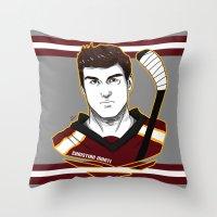 christian Throw Pillows featuring Christian Marti by Kana Aiysoublood