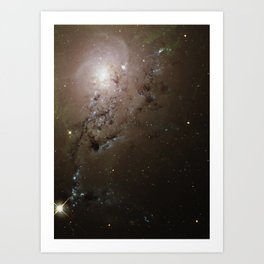 Hubble Space Telescope - Freewheeling Galaxies Collide in a Blaze of Star Birth Art Print